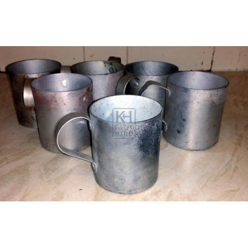 Old tin mugs