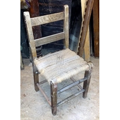 String bound wood chair