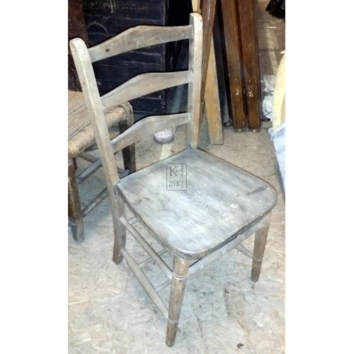 Plain wood chair