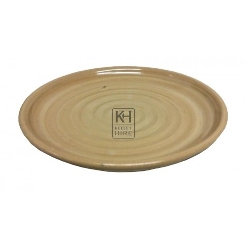 Brown glazed dinner plate