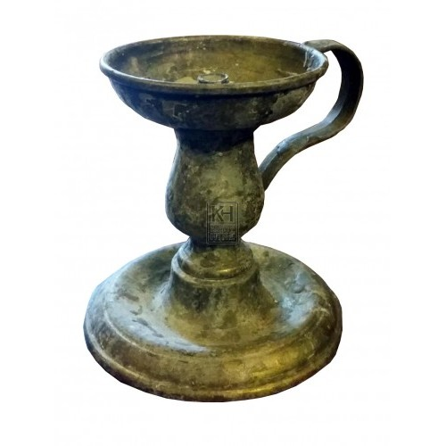 Brass candle holder with handle