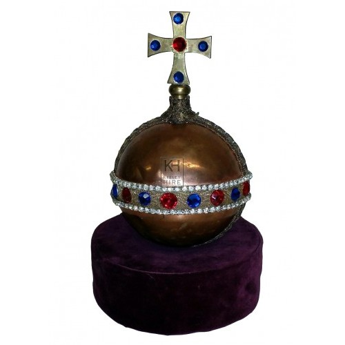 Copper orb with crucifix
