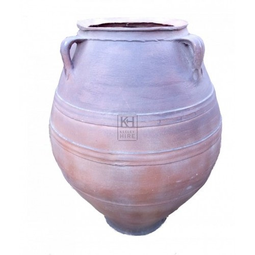 Large fibreglass bulbous urn
