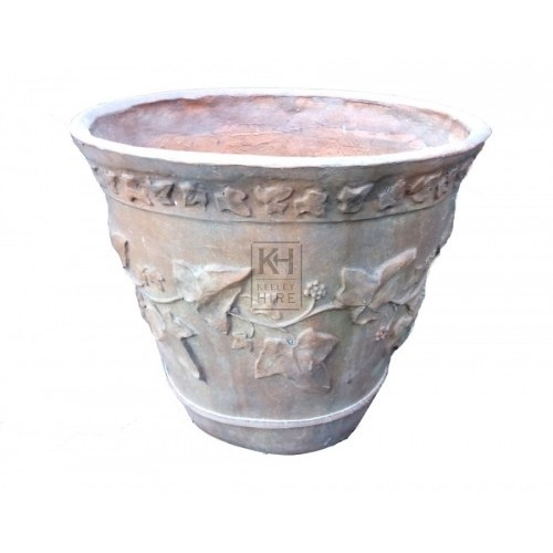 Decorated planter urn