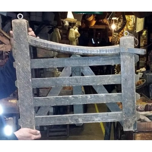 Wood gate sign and bracket
