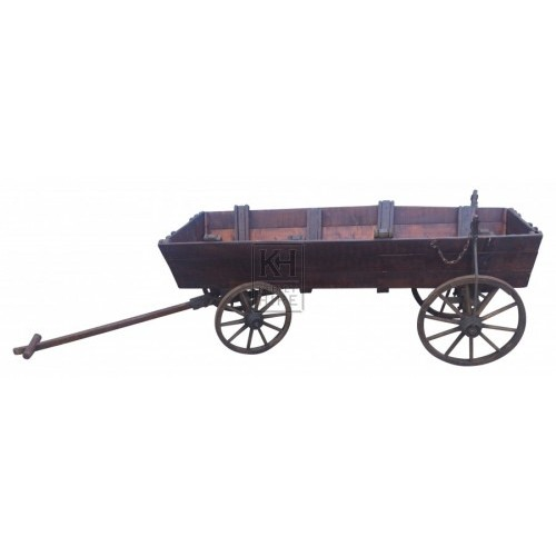 Long Low 4 Wheel Dog Cart