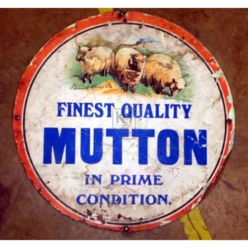 Butchers sign - Mutton
