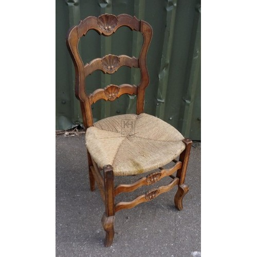 Dark carved continental chair