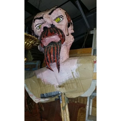 Large paper mache head man