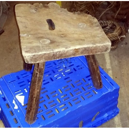 Rough edge wood stool