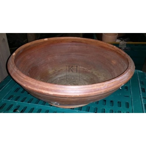 Large ceramic shaped bowl