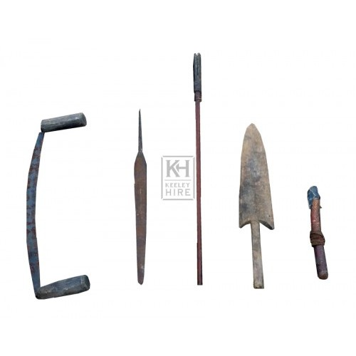 Assorted arrow making equipment