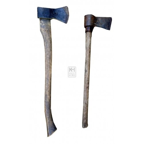 Assorted long handled axes