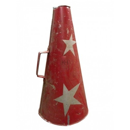 Red & Silver Starred Loud Hailer