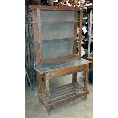 Simple brown dresser unit