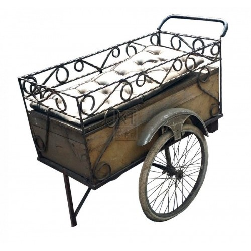2 wire wheel cart with scrolls