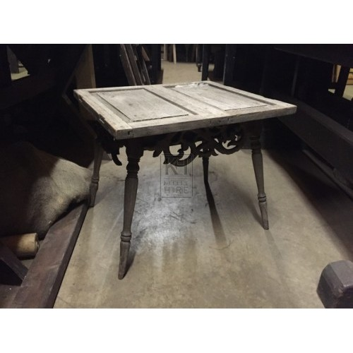 Small Square Carved Table