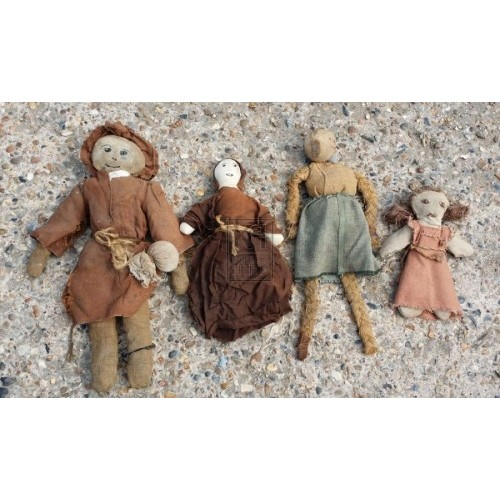 Assorted period dolls
