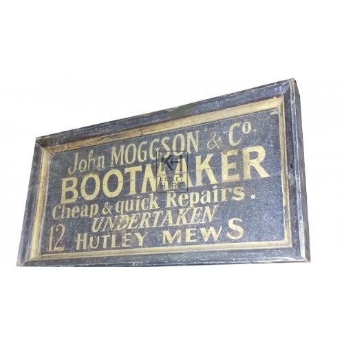 John Moggson Boot Maker sign