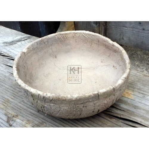 Small grey clay bowl