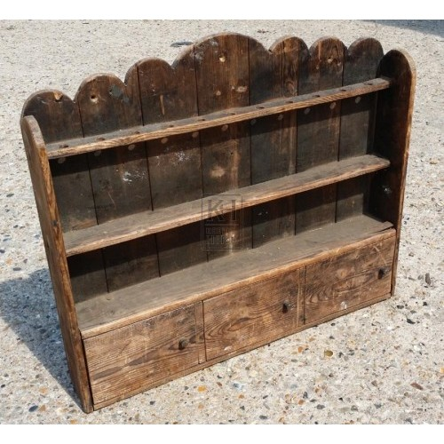 Simple wood wall shelf unit
