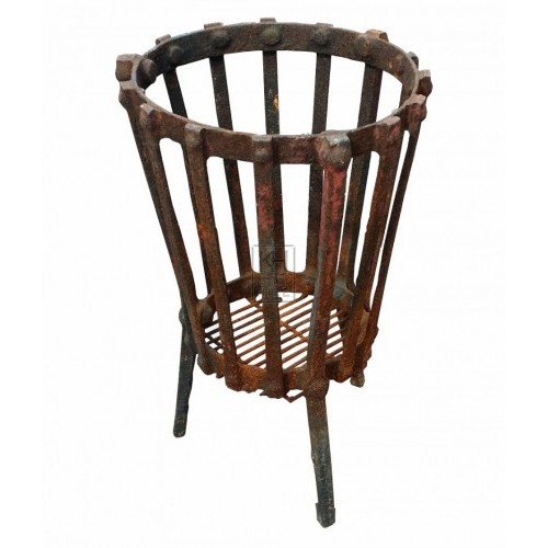Small iron slatted brazier