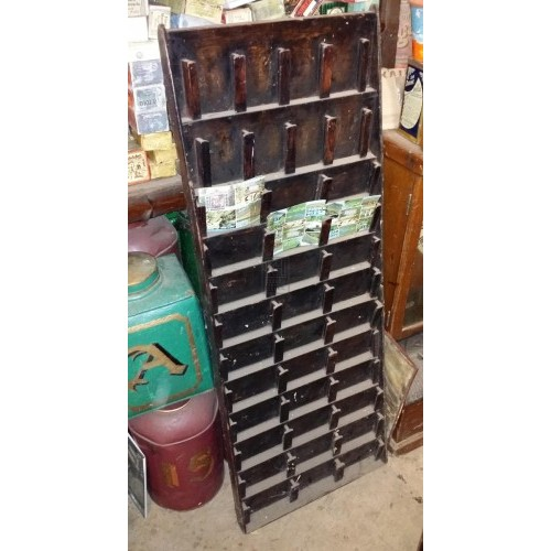 Wall wood postcard rack