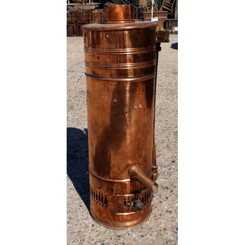 Large copper water boiler
