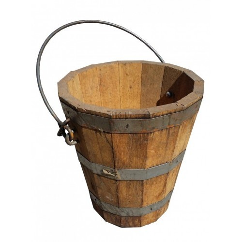 Light wood new bucket