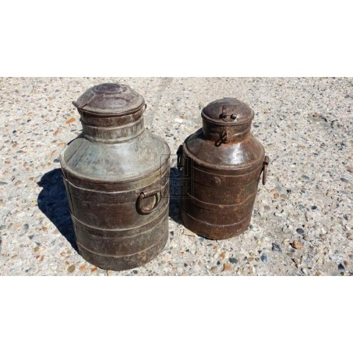 Small galvanised churn