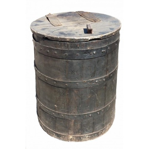 Large wood grain barrel