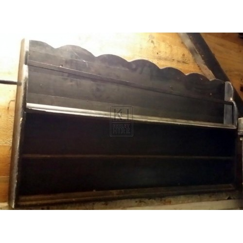 Dark wood plate rack