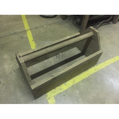 Straight Handle Wood Tool Box