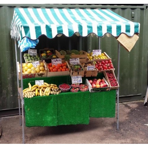 Modern stall dressing - fruit & veg
