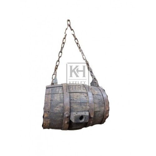 Small Dark Barrel with Chain