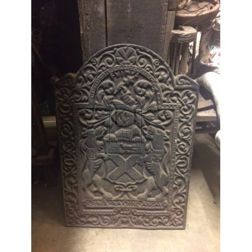 Decorative Cast Iron Fire Back