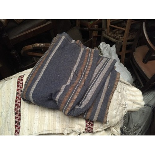Nary Fabric with White and Red Stripe
