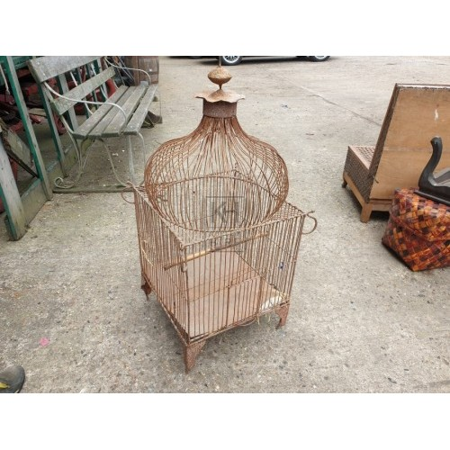 Aged Iron Bird Cage