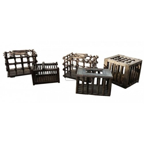 Assorted wood chicken cages 1