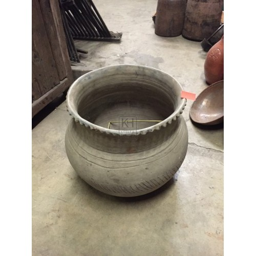 Grey Earthenware Pot