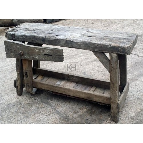 Thick wood workbench