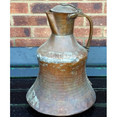 Large shaped copper jug