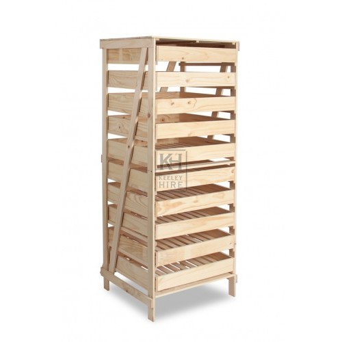 10 Drawer wood storage rack