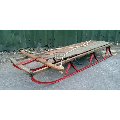 Period wood sledge