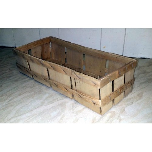 Thin wood veg crate
