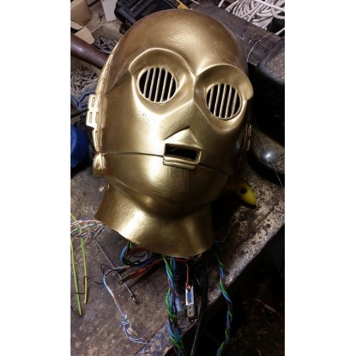 C3PO head with wires