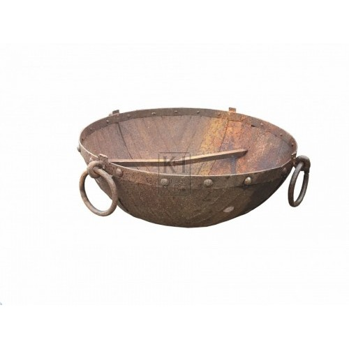 Large Bowl Brazier with Ring Handles