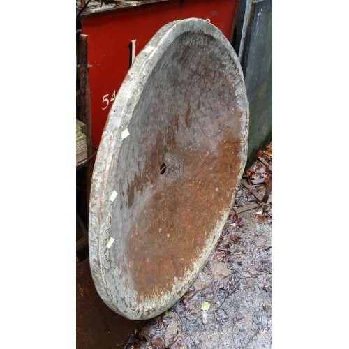 Very large beaten copper dish