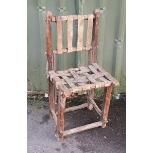 Leather strapped chair