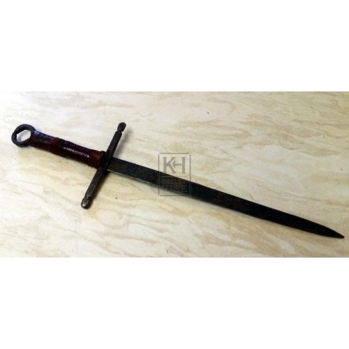 Dagger with leather handle